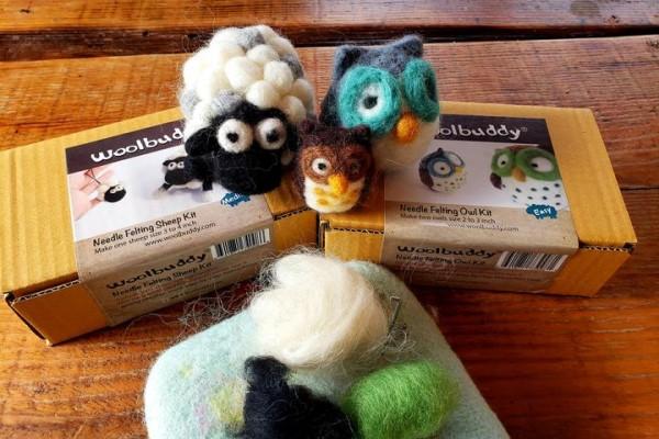needle felted mini animal virtual workshop