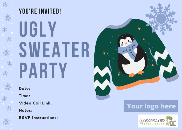 virtual tacky sweater party invitation