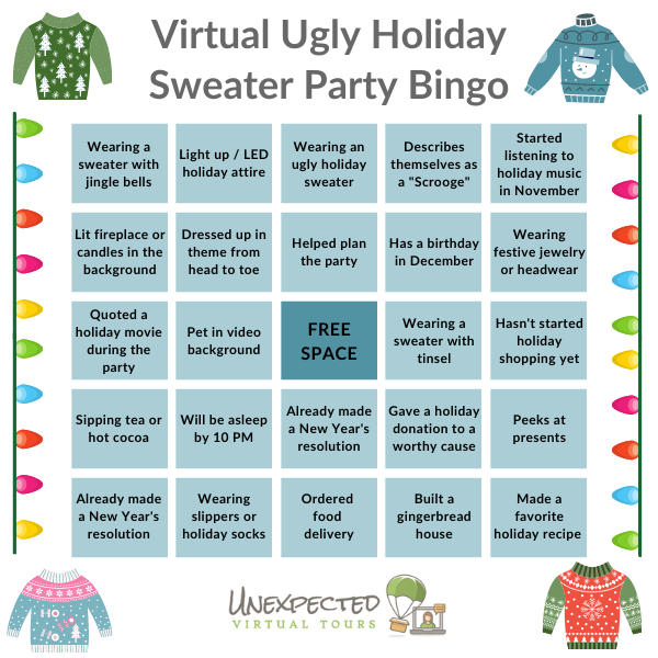 Holiday Sweater Bingo